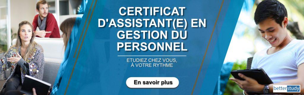 certificat d'assistant en gestion du personnel