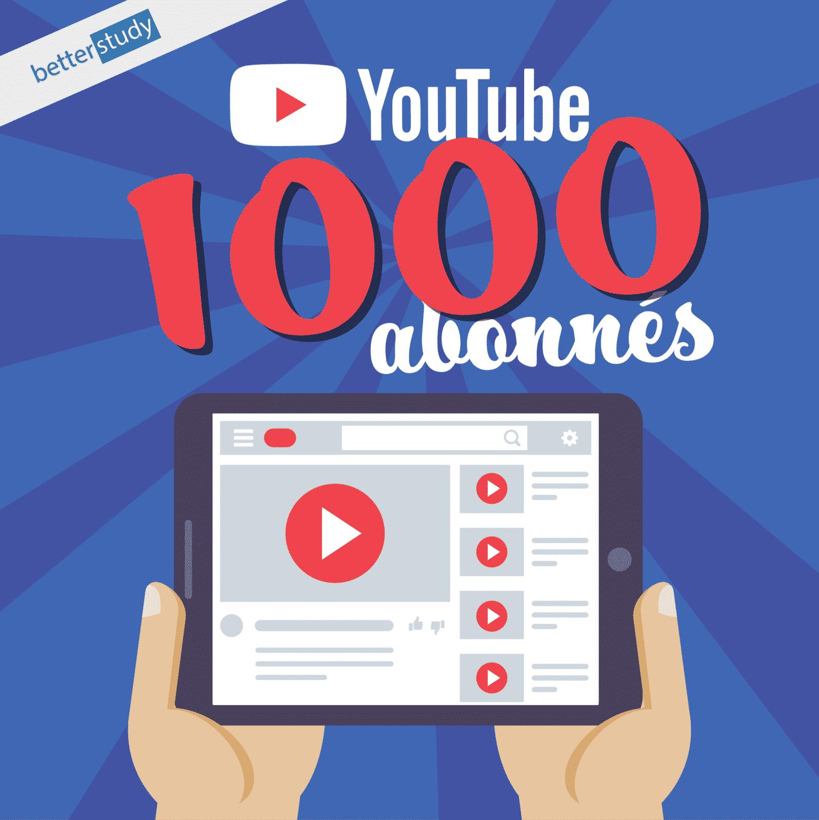 La chaîne YouTube de l'institut BetterStudy atteint les 1000 abonnés!