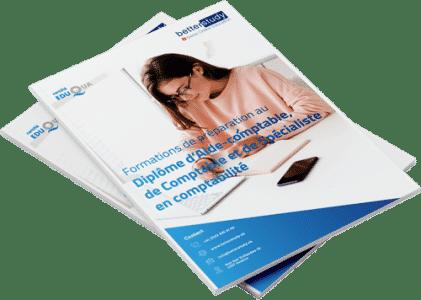 Mockup brochure formations comptabilite